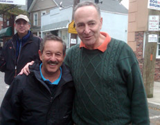 Rick and Senator Chuck Schumer